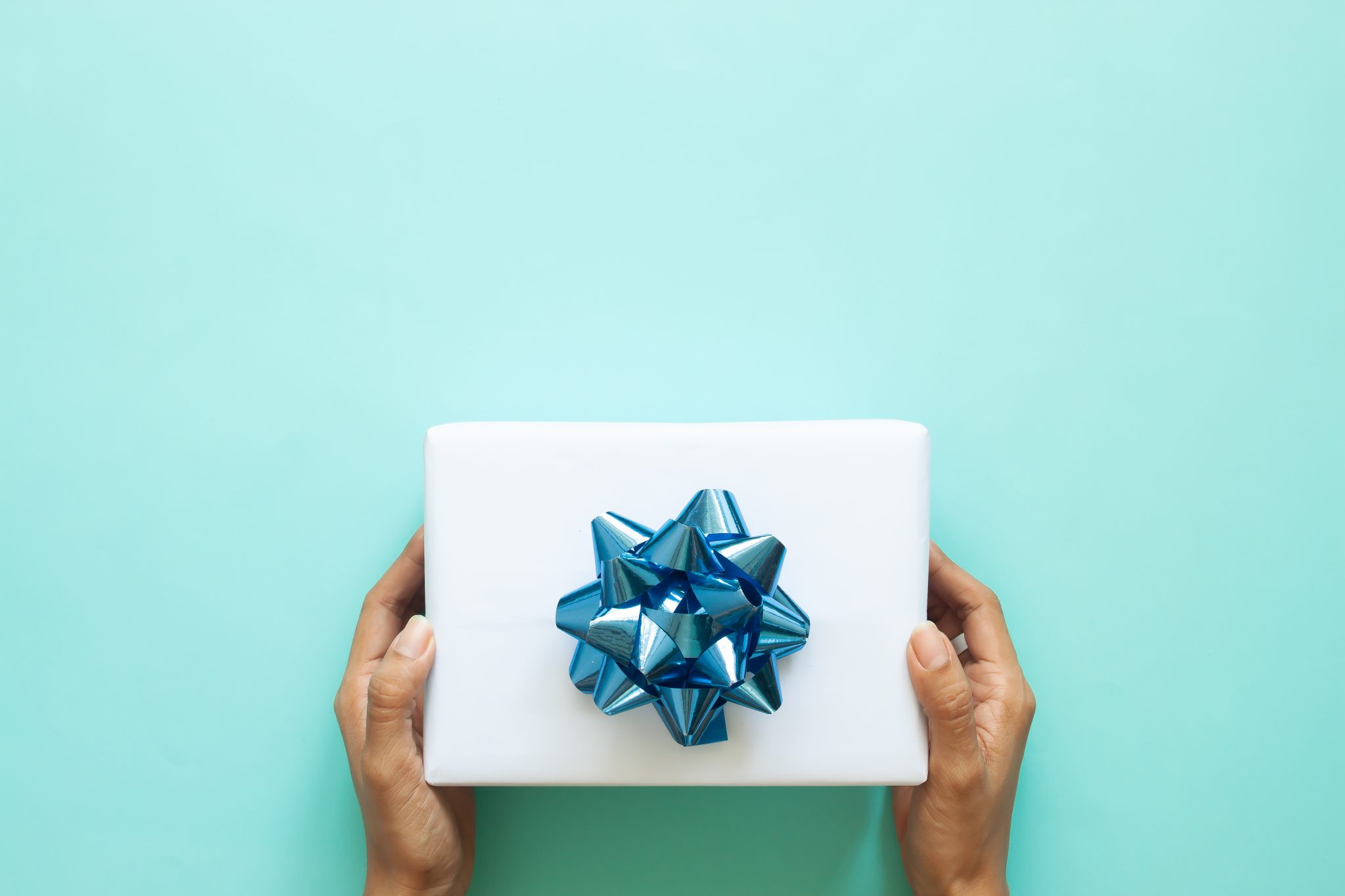 Wrapped gift.