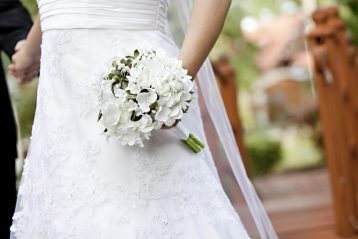 A bridal gown.