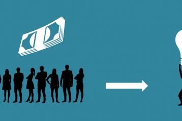 Crowdfunding graphic.