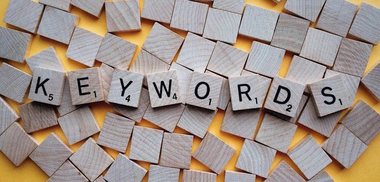 "Letters spelling the word ""keyword""."