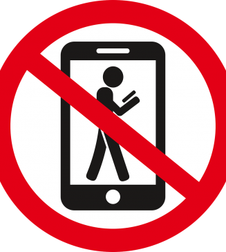 No cell phones.