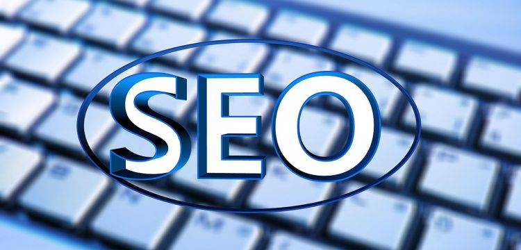 Graphic with SEO on it.