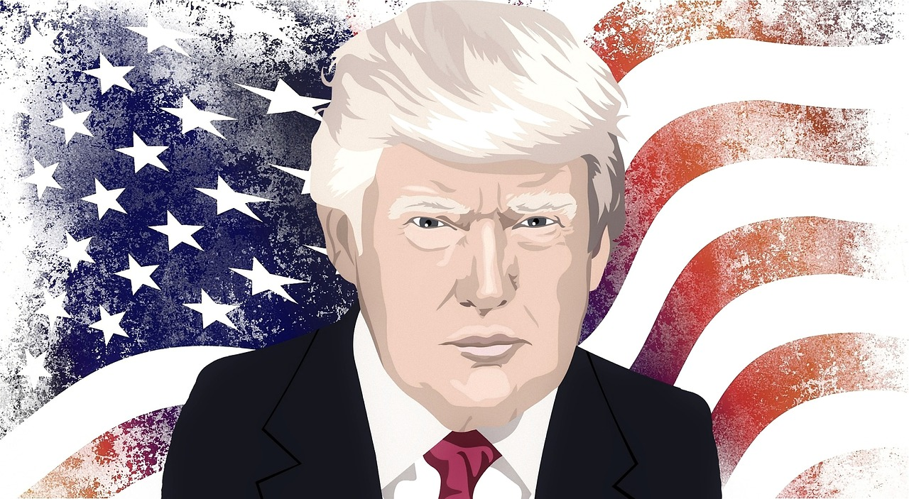 Painting of Donald Trump.