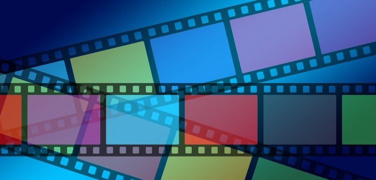 A graphic indicating film from a video.