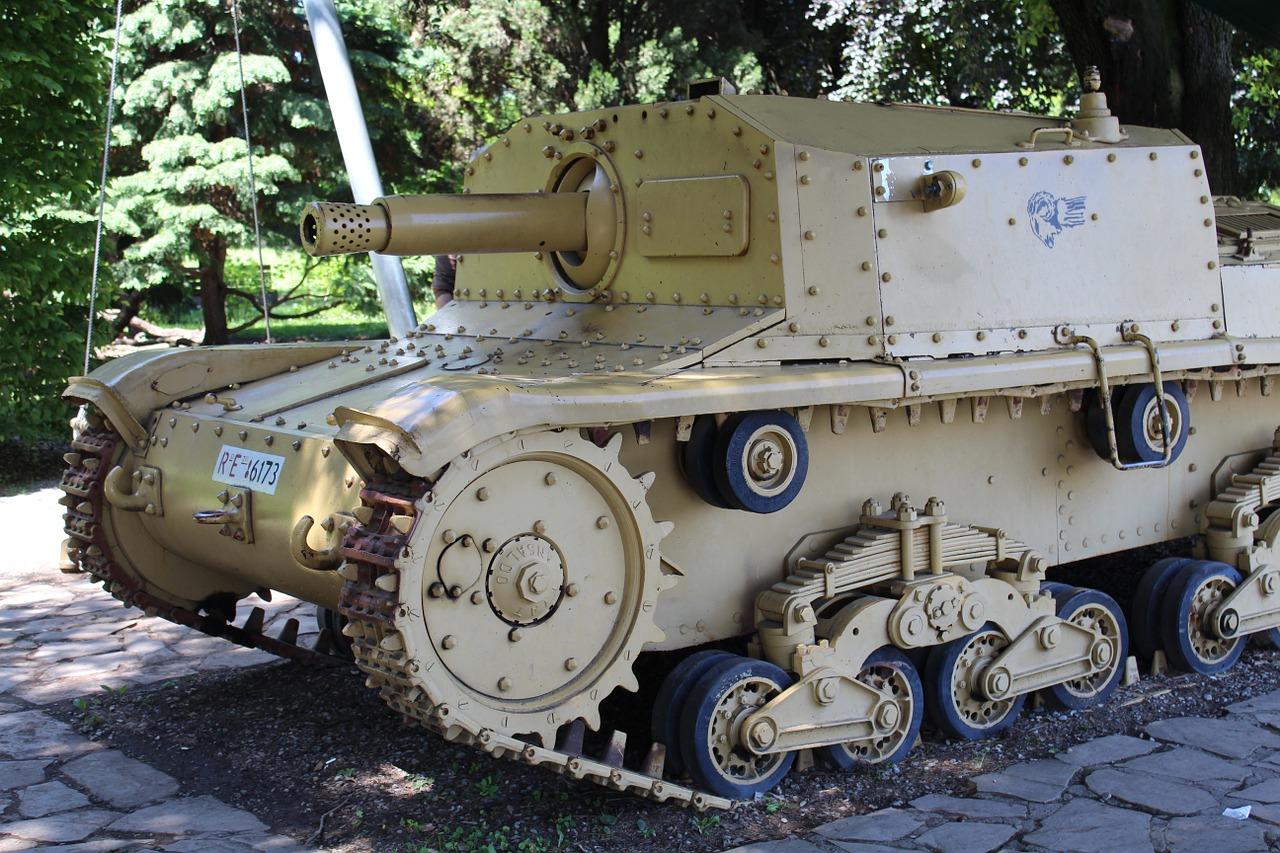 Armoured tank.