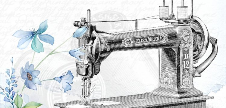 Retro sewing machine.