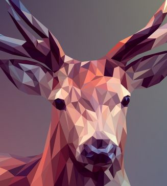 A graphic of a buck.