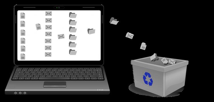 Trash folder.