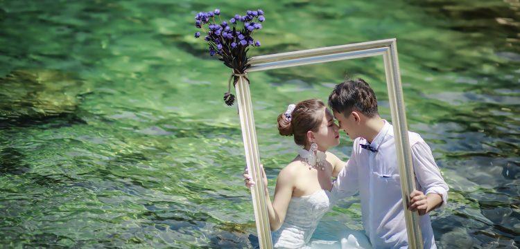 Artsy wedding photo.