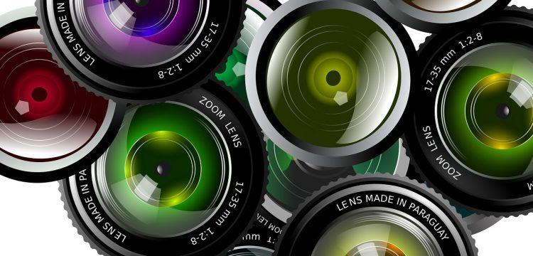 Camera lenses.
