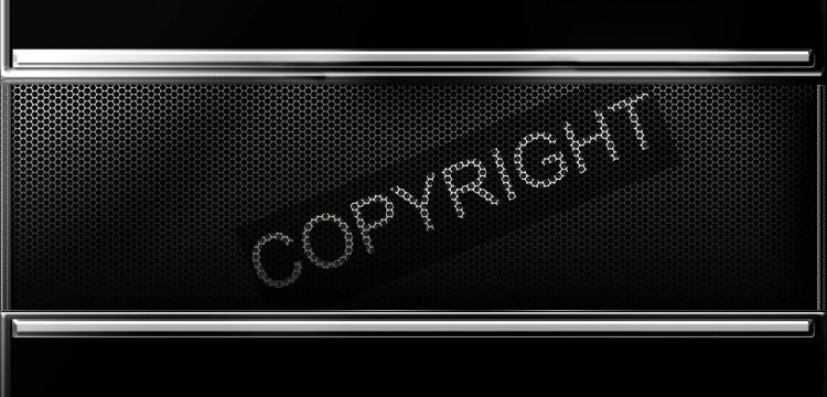 """The word, """"copyright""""."""