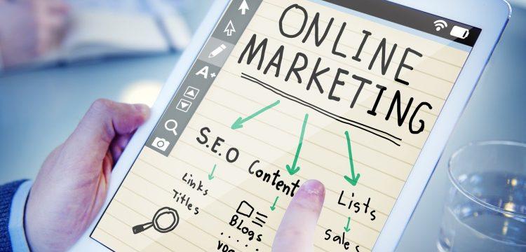 Online marketing graphic.