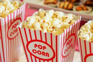 Movie theater popcorn and snacks.