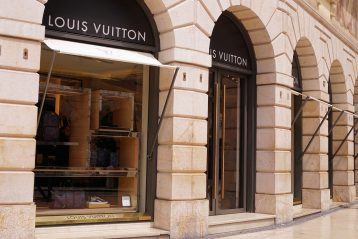 Louis Vuitton store front.