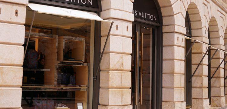 Louis Vuitton store front.