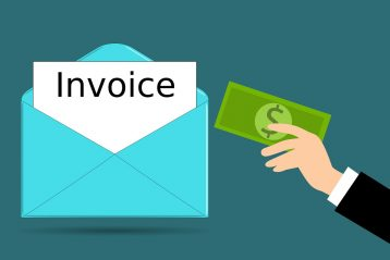 Graphic of an invoice.