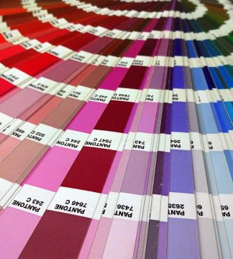 Color samples.