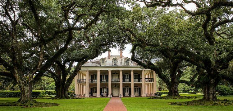 A Southern plantation.