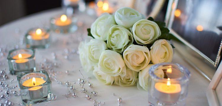 Decor for a wedding or reception.
