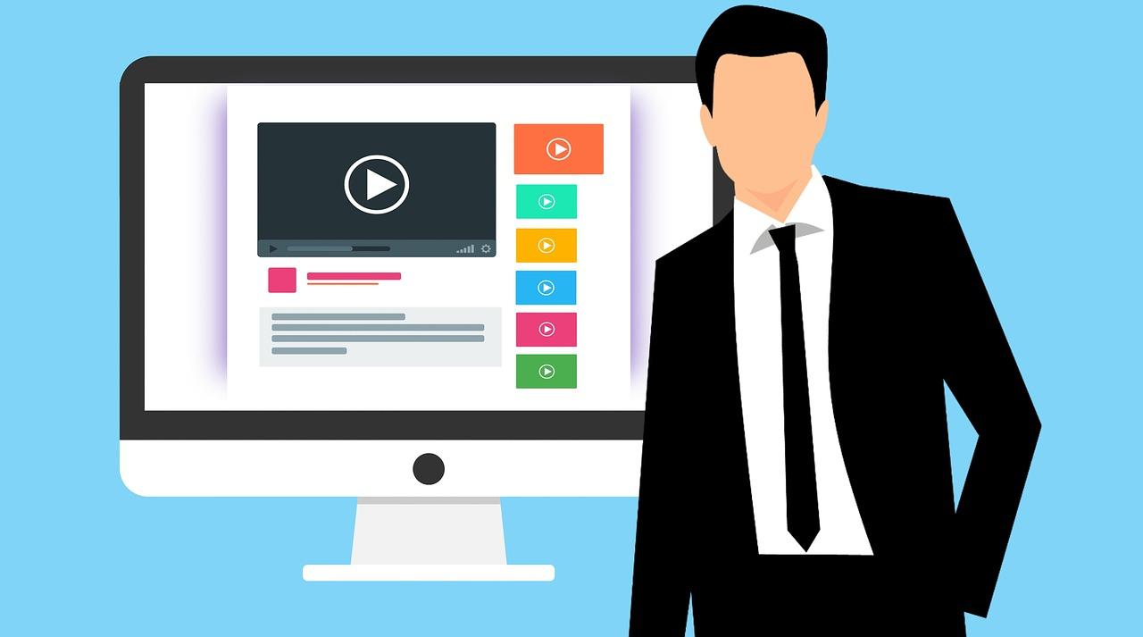 Graphic denoting marketing video.