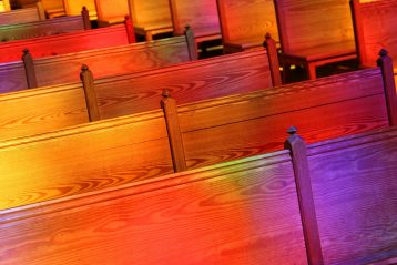 Church pews.