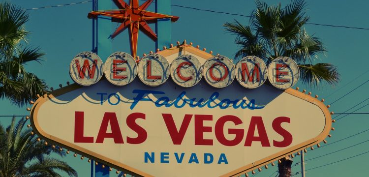Welcome sign in Las Vegas.