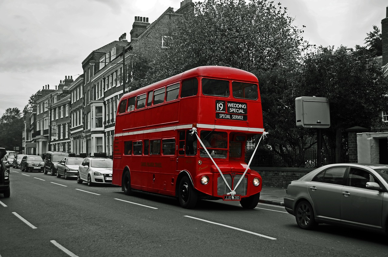 Double decker bus.