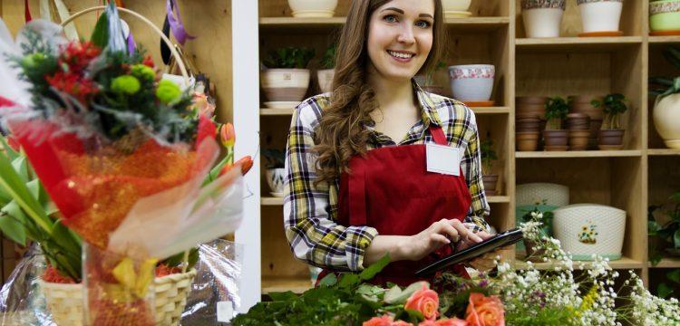 Worker in a flower shop.
