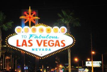 Las Vegas city sign.