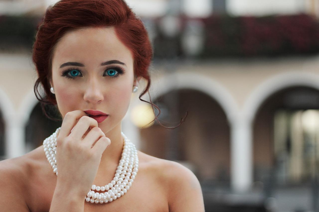 A pensive looking bride.