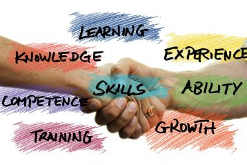 "Graphic denoting training terms such as ""skills"", ""growth"", and ""learning""."