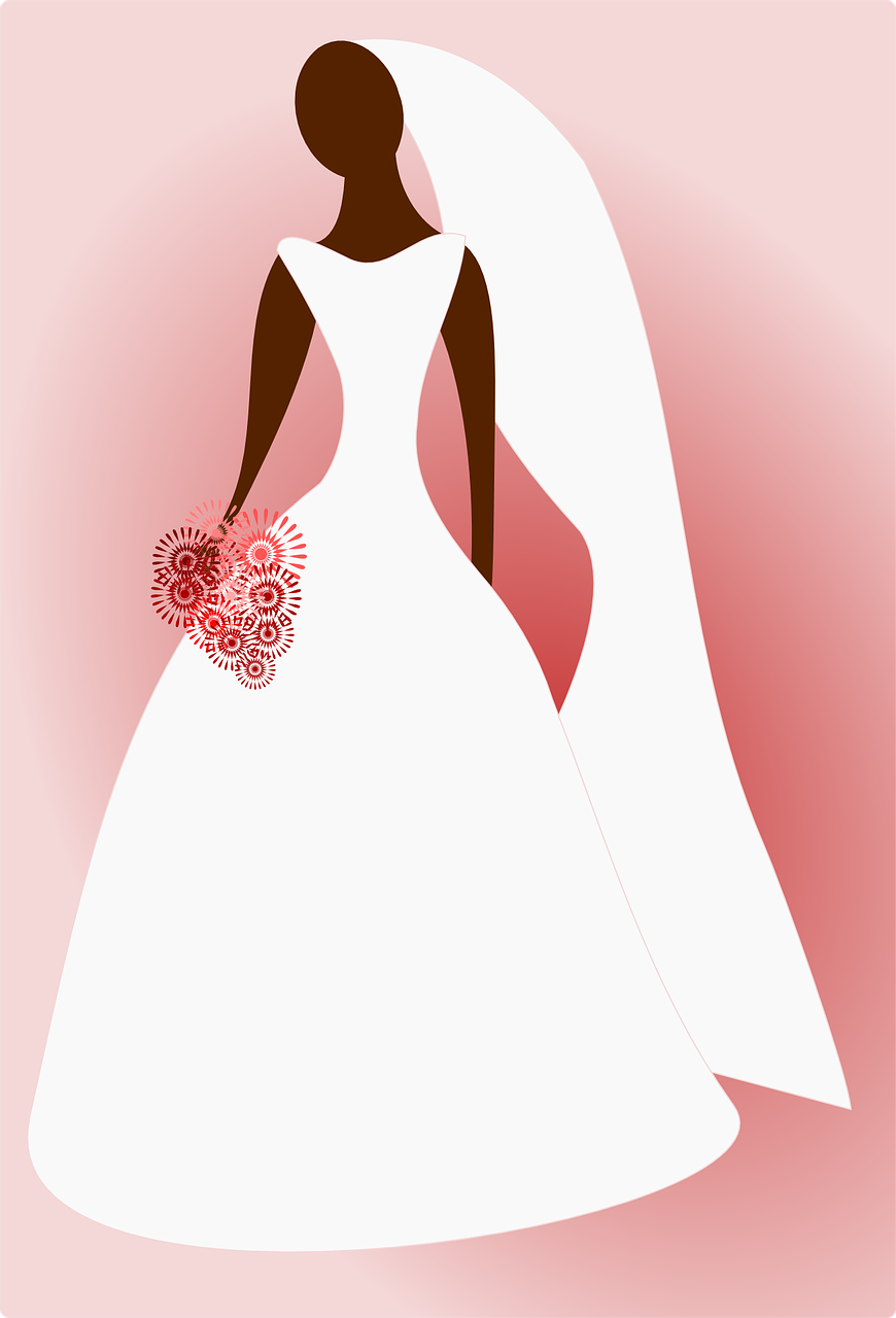 Graphic of a bride.