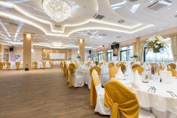 Wedding reception hall.