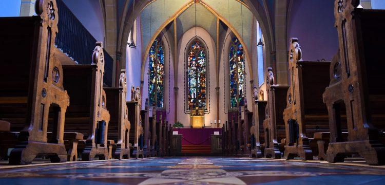 A church altar.