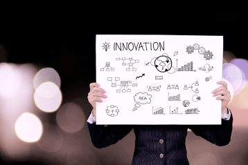 """A sign that reads, """"Innovation""""."""