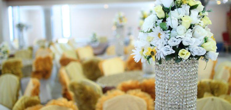 A wedding reception hall.