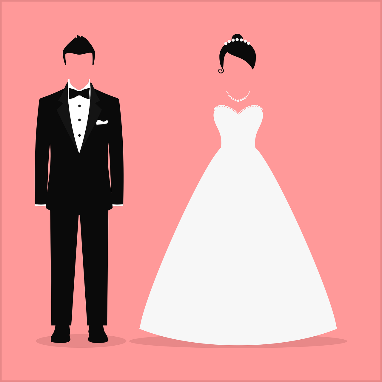 Graphic of a bride and groom.