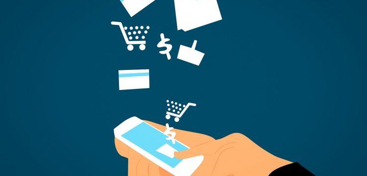 Graphic depicting e-commerce.