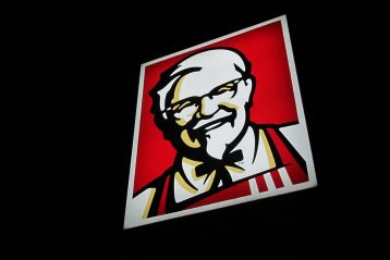 KFC sign.