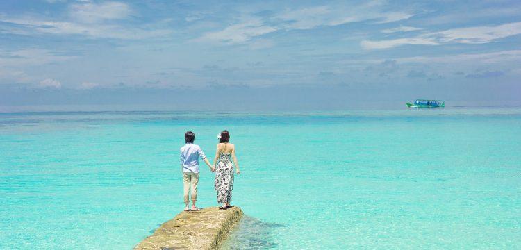 Couple on a beach.