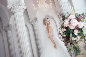 Bride in a fancy gown.