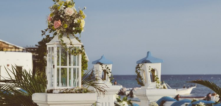 Wedding venue near a beach.