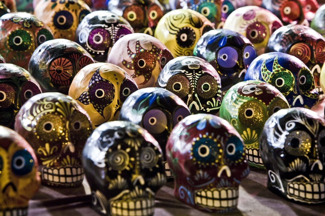 A collection of sugar skulls.