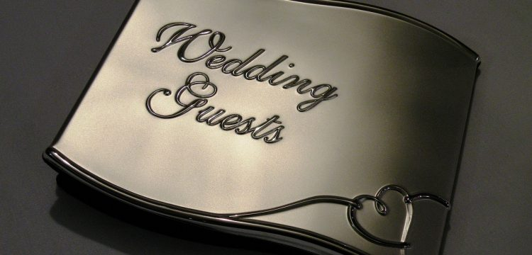 """Picture that reads, """"Wedding Guests""""."""