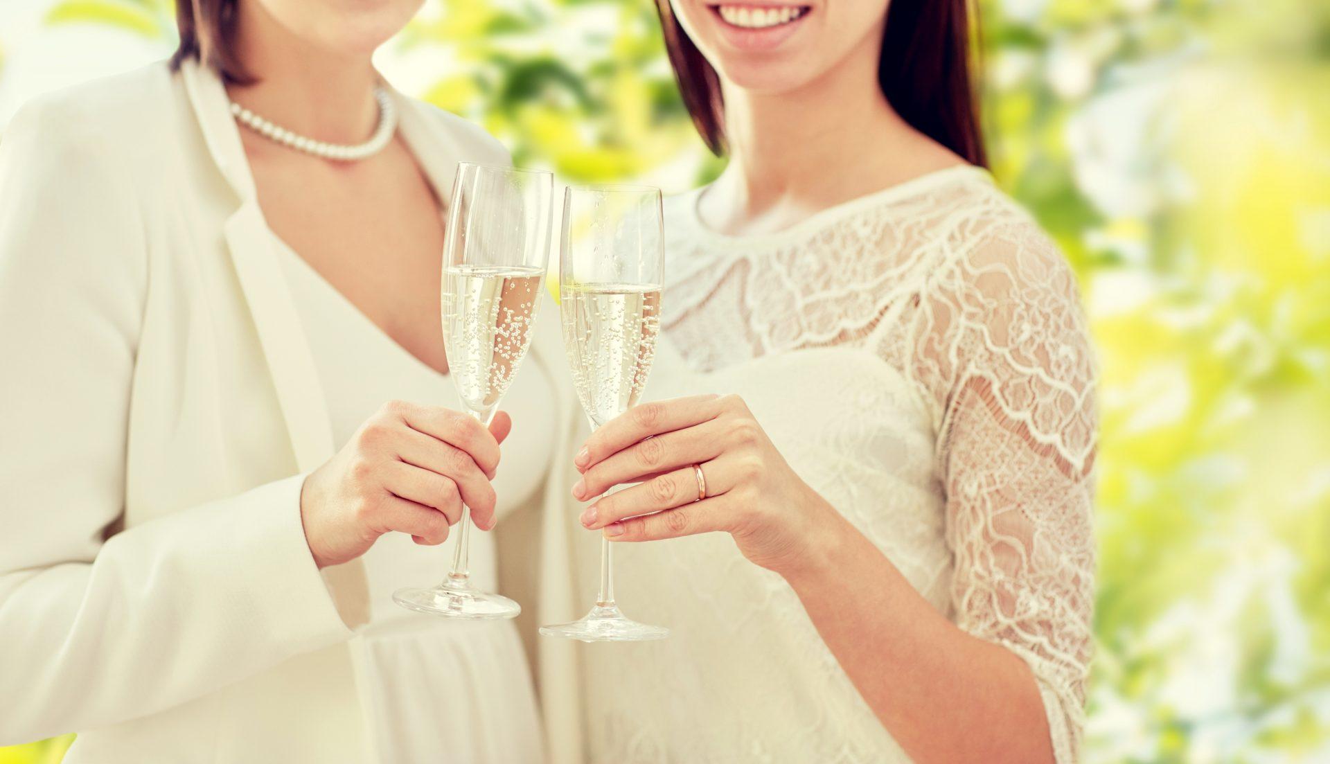 Two brides.