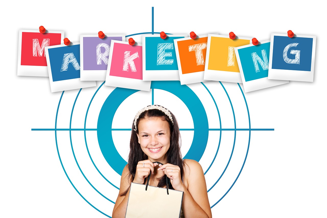 A marketing graphic showing a potential customer.