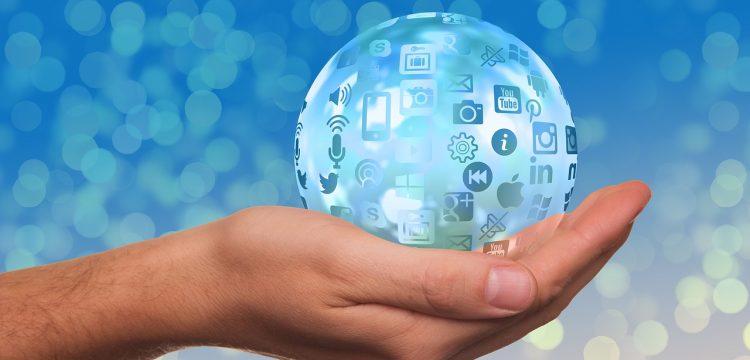 Icons of various social media platforms.