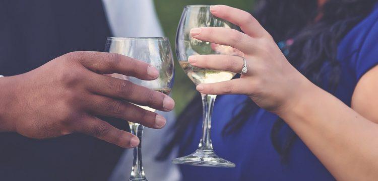 Engaged couple.