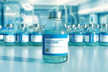 Covid vaccine bottle.