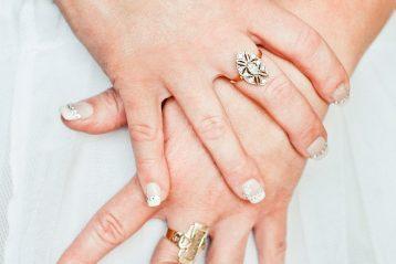 A bride's jewelry.